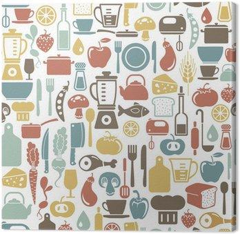 Tableau sur Toile Seamless, avec des icônes cuisson