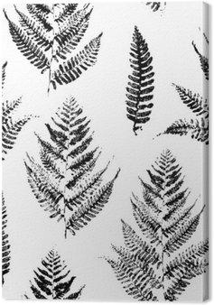 Tableau sur Toile Seamless avec des impressions de peinture de feuilles de fougère