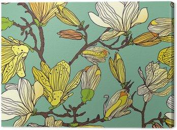 Tableau sur Toile Seamless floral texture