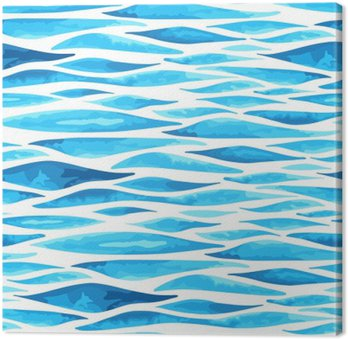 Tableau sur Toile Seamless horizontal background de la mer