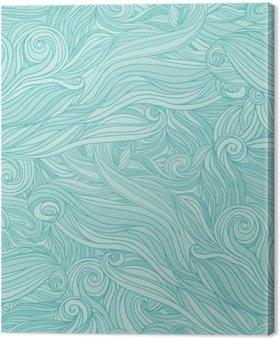 Tableau sur Toile Seamless motif abstrait, enchevêtrement ondulée fond de cheveux