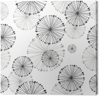 Tableau sur Toile Seamless pattern de pissenlit