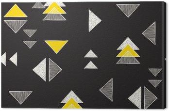 Tableau sur Toile Seamless triangles dessinés à la main.
