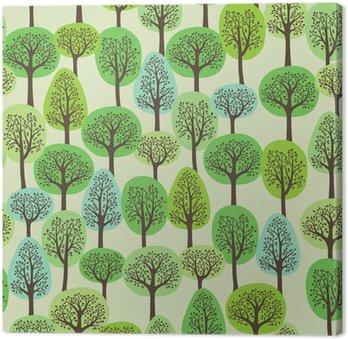 Tableau sur Toile Seamless une forêt verte