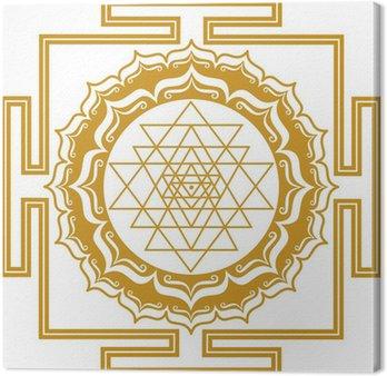 Tableau sur Toile Shri Yantra - Energie Générateur