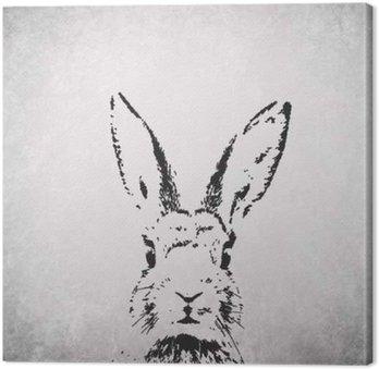 Tableau sur Toile Silhouette de lapin backround