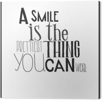 Tableau sur Toile Simple affiche en noir et blanc avec une expression de motivation