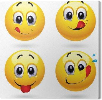 Tableau sur Toile Smiley balles dans la tentation de bonbons dégustation