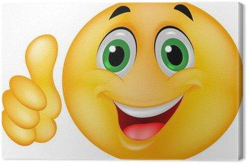 Tableau sur Toile Smiley cartoon émoticône avec le pouce