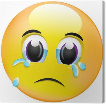 Tableau sur Toile Smiley - des larmes de chagrin