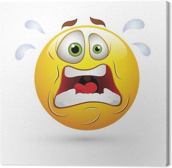 Tableau sur Toile Smiley Emoticons vecteur de visage - expression choquante