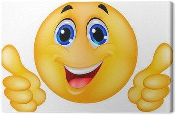 Tableau sur Toile Smiley heureux Smiley de visage
