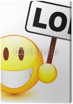 Tableau sur Toile Smiley vectoriel, facilement modifiable !