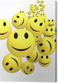 Tableau sur Toile Smileys Afficher visages positifs heureux