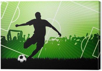 Tableau sur Toile Soccer background