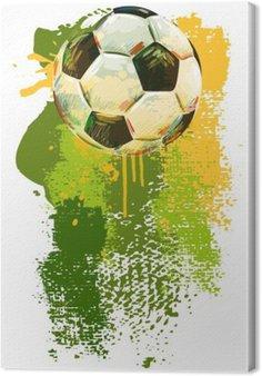 Tableau sur Toile Soccer ball Bannière .__ Tous les éléments sont dans des couches séparées et regroupées. __