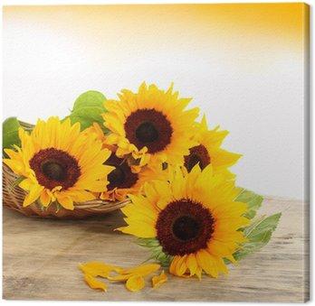 Tableau sur Toile Soleil Et Fleurs