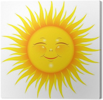 Tableau sur Toile Soleil souriant