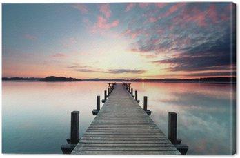 Tableau sur Toile Sommermorgen mit Sonnenaufgang