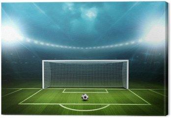 Tableau sur Toile Stade avec un ballon de soccer