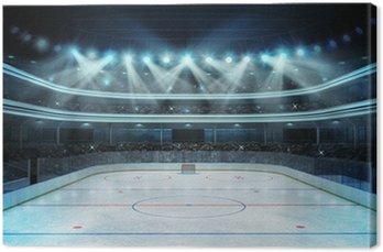 Tableau sur Toile Stade de hockey avec les spectateurs et une patinoire vide