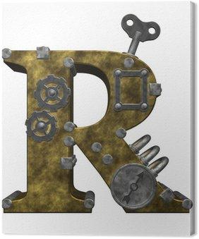 Tableau sur Toile Steampunk lettre r