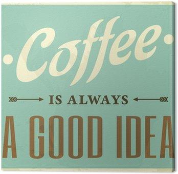 Tableau sur Toile Style rétro affiche de café