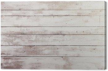 Tableau sur Toile Tableaux blancs en bois avec une texture en toile de fond