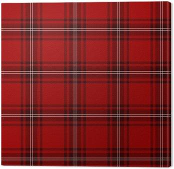 Tableau sur Toile Tartan, écossais, rouge
