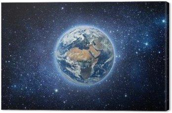 Tableau sur Toile Terre et galaxie. Les éléments de cette image fournie par la NASA.