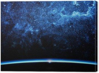 Tableau sur Toile Terre et la galaxie