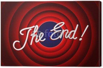 """Tableau sur Toile """"The End"""" Message (conclusion présentation dernière diapositive merci)"""