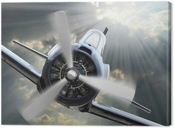 Tableau sur Toile The Fighter. Rétro thème de la technologie.