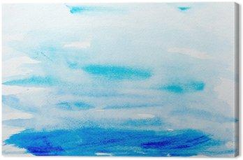 Tableau sur Toile Touches de couleurs aquarelle art peinture