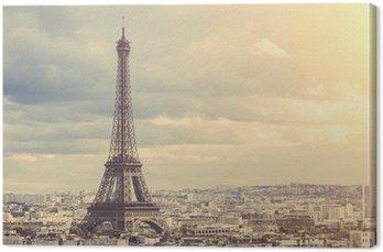 Tableau sur Toile Tour Eiffel à Paris