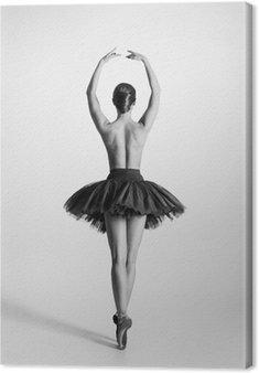 Tableau sur Toile Trace en noir et blanc d'un danseur de ballet seins nus