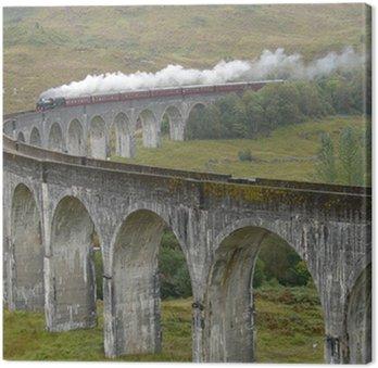 Tableau sur Toile Train sur le viaduc de Glenfinnan. Ecosse.