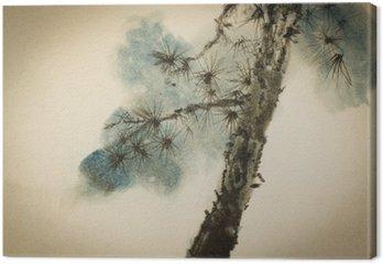 Tableau sur Toile Tronc et les branches de pin