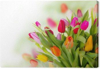 Tableau sur Toile Tulipes bouquet frais