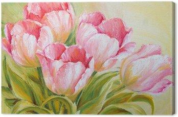Tableau sur Toile Tulipes Peinture à l'huile