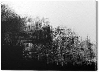 Tableau sur Toile Une peinture abstraite splatter frame en noir et blanc.