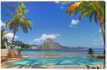 Tableau sur Toile Vacances en paradis tropical