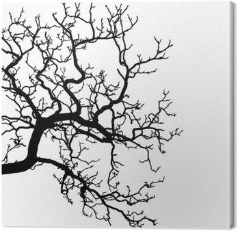 Tableau sur Toile Vecteur d'un arbre silhouette illustration
