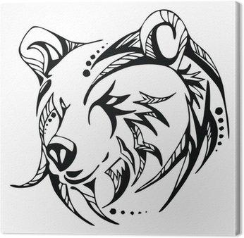 Tableau sur Toile Vecteur tête de tatouage d'ours