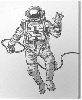 Tableau sur Toile Vector illustration cosmonaute,