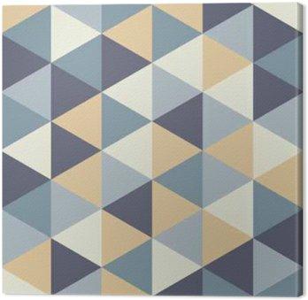 Tableau sur Toile Vector moderne seamless géométrie coloré triangle, couleur abstrait géométrique, oreiller imprimé multicolore, texture rétro, design de mode hipster