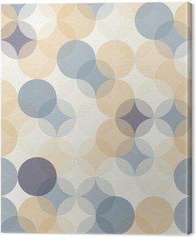 Tableau sur Toile Vector modernes colorés cercles de motif géométrique sans soudure, la couleur de fond géométrique abstrait, papier peint impression, rétro texture, design de mode hipster, __
