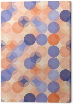 Tableau sur Toile Vector modernes colorés cercles de motif géométrique sans soudure, la couleur orange bleu fond géométrique abstrait, papier peint impression, rétro texture, design de mode hipster, __
