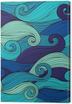 Tableau sur Toile Vector seamless pattern avec des vagues abstraites