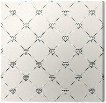 Tableau sur Toile Vector seamless rétro, avec des diamants.